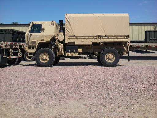 Brown Military Truck
